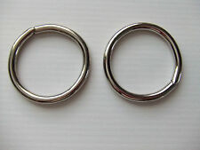 Lot Of 2 O Rings Unwelded Nickel Plated