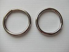 Lot Of 2 O Rings Unwelded Nickel Plated
