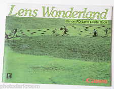 Canon FD Lens Wonderland Collection Sales Brochure - English C-IE-097AC USED B12