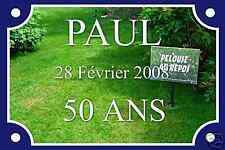 Plaque de Rue Alu 20X30 cm Personnalisation GRATUITE