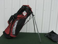 Wilson Staff Golf Carry Stand Bag Black / Red New Nice!