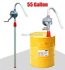 New Manual Hand Crank Rotary Pump Oil Fuel Transfer Suctin Drum Barrel 55 Gallon