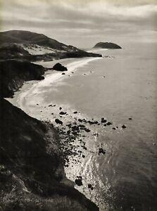 1940s Vintage ANSEL ADAMS California POINT SUR Ocean Seascape Photo Art 16X20