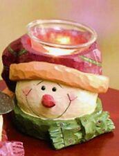 Prim SNOWMAN HEAD TEA LIGHT / VOTIVE HOLDER, decoration or great gift