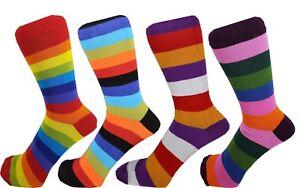 Men Cotton Rich Striped Pattern Ankle Socks One Size 6 - 11