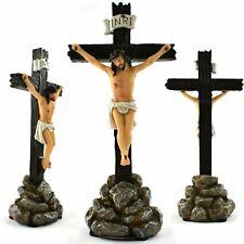 More details for jesus christ standing crucifix cross 33 cm (13