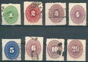 Mexiko Lot/Posten aus Mi.-Nr.147-155 o (MICHEL € 120,00) feinst/pracht