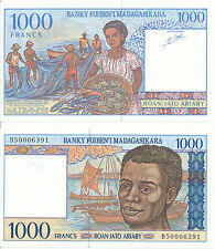 Madagaskar / Madagascar - 1000 Francs 1998 UNC - Pick 76b