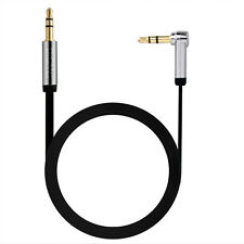 DiGiYes 2M/6Ft 3.5mm Jack to Jack 90 Degree Flat Auxiliary Audio Cable