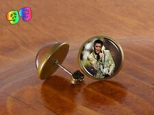 Elvis Presley Actor Musician Ear Stud Earrings Jewelry Art Gift Gifts