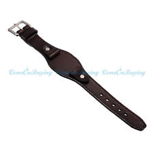 19mm Genuine Leather Men's Women's Brown Wrist Watch Band Strap Cuff Bracelet