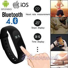 Smart Wristband Heart Rate Bracelet Watch Bluetooth SMS Fitness Activity Tracker