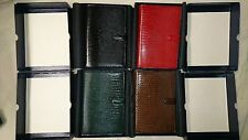 New Filofax Lizard Original Vintage Box Personal Organizer Red Green Brown Black