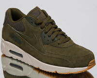 Nike Air Max 90 Ultra 2.0 Leather Men's New Olive Canvas Sneakers 924447-301