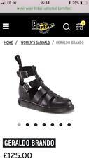 Dr Marten Leather Silver Buckle Geraldo Black Cut Out Boots RRP: £125.00