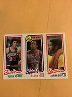 189 Alvin Alvan Adams 14 Lloyd Free 240 Adrian Dantley, ,,1980 81 Topps Cb20
