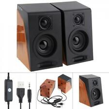 6W Mini USB Audioengine Powered Desktop Speakers for PC / Laptop / Smartphone