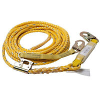50' Vertical Life Line Assembly Heavy Duty Poly Rope Safety Harness Roofing Tool