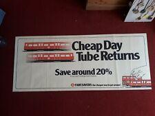 More details for london underground cheap day tube returns.  faresavers poster.