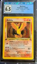 Pokemon 1999 1st Edition Fossil Moltres #12 Holo CGC 6.5 EX/NM+