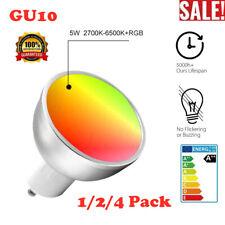 GU10 5W RGB LED Wireless Wifi Bulb Dimmable Light Smart APP Remote Control Lamp