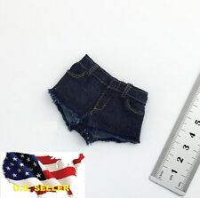 1/6 stretch Woman Denim Cuffed Shorts Jeans for Kumik Phicen Hot Toys ❶USA❶