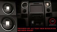 ACC Ford F150/Raptor A/C Front Vent Trim Rings 8Pc Polished/Brushed-771001