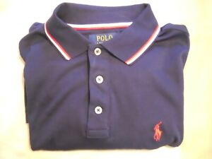 Polo Ralph Lauren Golf Shirt Navy Custom Slim Fit M NWT Free Shipping