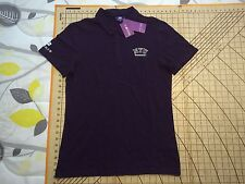 XLARGE VERY SMALL/FITTED PURPLE NYU SHANGHAI COTTON POLO SHIRT - NWT