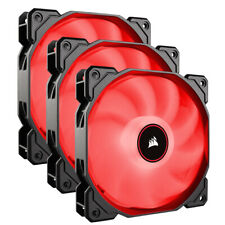 Corsair AF120 Air Series LED 120mm Computer Case Fans - Triple Pack - Red