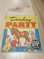Vintage 1941 WHITMAN Donkey Party 24 Tails Birthday Game Plus 2