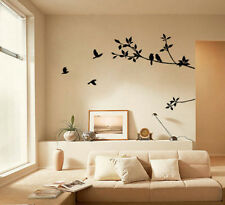 Bird Tree Cute Home Removable Wall Sticker Mural Decal Vinyl  Decor DIY Art Room