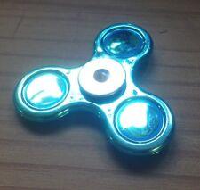 Fidget Spinner MANO Spinner TRI Spinner ALUMINIO azul-metálico Cool ACABADO