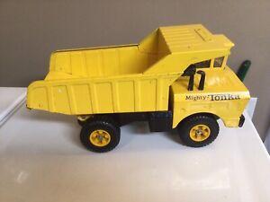 Vintage Mighty Tonka Dump Truck Rare 14 Hole Wheels