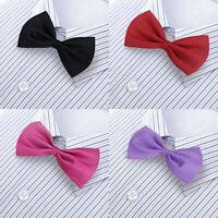 Unisex Satin Mens Wedding Groom Womens Party Fancy Plain Necktie Tuxedo Bow Ties