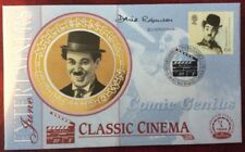 1.6.1999 Entertainers FDC Charlie Chaplin, Signed DAVID ROBINSON, Film Critic