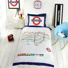 London Underground Multi Color Map Design Reversible Single Duvet Set By Rapport