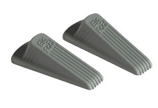 NEW! 2-Pack MASTER BIG FOOT GRAY RUBBER DOOR WEDGE, DOOR STOPS, GD002