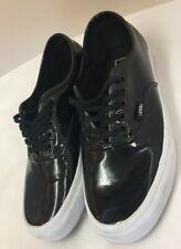 Vans Authentic Ladies Trainers Patent Black Size Womes US 8.5 (D2)