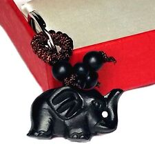 Feng Shui Peach Wood Elephant Key Ring /Key Chain For good fortune