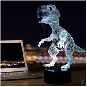Dinosaur 3D LED Illusion Night Light 7 Colours Table Lamp - Dinosaur