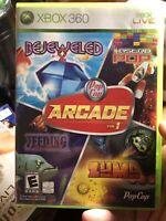 PopCap Arcade Vol. 1 (Microsoft Xbox 360, 2007) Video Game CIB Tested!