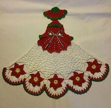 New listing Crochet Crinoline Lady Doily - Poinsettia