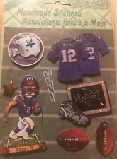 Handmade Stickers Football 3D Style Scrapbooking Card Making New Sealed