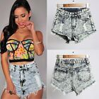 New Vintage Women Ladies Summer Ripped High Waisted Denim Shorts Jeans Hot Pants