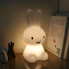 Bunny Rabbit LED Baby Kids Night Light Lamp Girls Children Room White Miffy