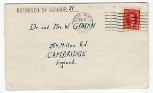 Canada POW Camp N - Sherbrooke, Quebec 1940 Jewish Internee - Censor Cover to UK