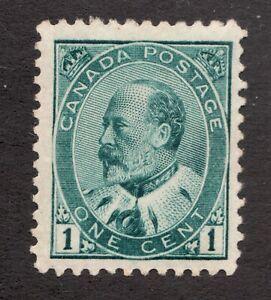 #89i w/ Re-entry  - Canada - 1903 - 1 cent - EdVII -  MH  - superfleas - est$125