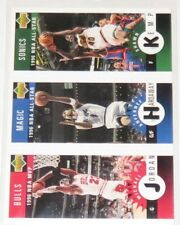 1996/97 Michael Jordan/Hardaway/Kemp NBA Upper Deck CC Mini Cards #M11,60,78 NM