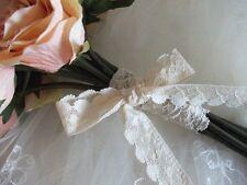 45m English Nottingham Cotton Cluny Lace Vintage style - Ecru FC137 Bridal